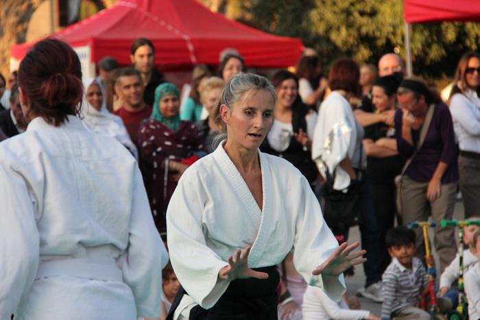 Dimostrazione di Aikido a Torpignathlon - 2015