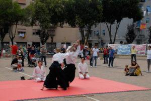 Dimostrazione di Aikido a Torpignathlon - 2014